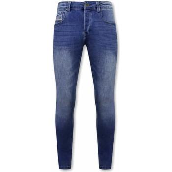 Kleidung Herren Slim Fit Jeans True Rise Stretch Jeans A Blau