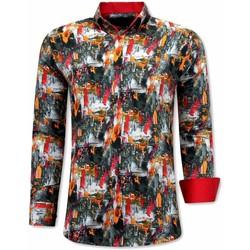 Kleidung Herren Langärmelige Hemden Tony Backer Italienische Orange Rot, Orange