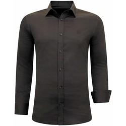 Kleidung Herren Langärmelige Hemden Tony Backer Klassische Slim Braun