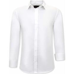 Kleidung Herren Langärmelige Hemden Tony Backer Klassische Slim Weiß