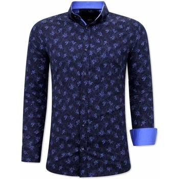 Kleidung Herren Langärmelige Hemden Tony Backer  Blau