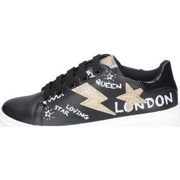 Schuhe Mädchen Sneaker Low Asso AG-8401 SCHWARZ