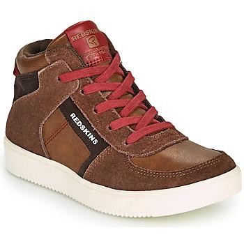 Schuhe Jungen Sneaker High Redskins LAVAL KID Braun / Rot