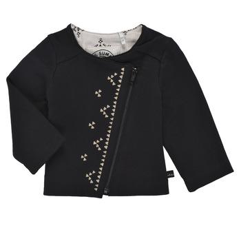Kleidung Mädchen Strickjacken Ikks XS17020-02 Schwarz