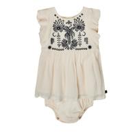 Kleidung Mädchen Kurze Kleider Ikks XS30060-11 Weiss
