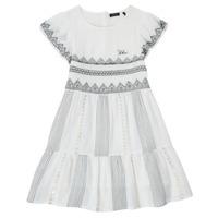 Kleidung Mädchen Kurze Kleider Ikks XS30012-11-C Weiss