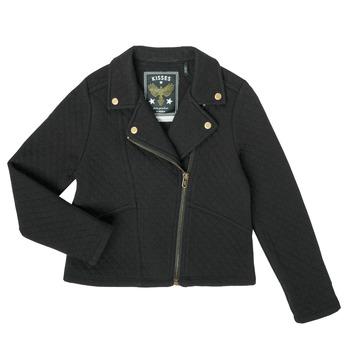 Kleidung Mädchen Strickjacken Ikks XS17012-02-C Schwarz