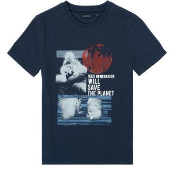 Kleidung Jungen T-Shirts Ikks XS10013-48-C Marine