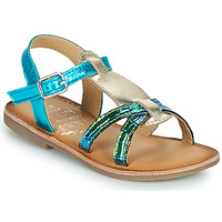 Schuhe Mädchen Sandalen / Sandaletten Mod'8 CALICOT Türkis / Gold