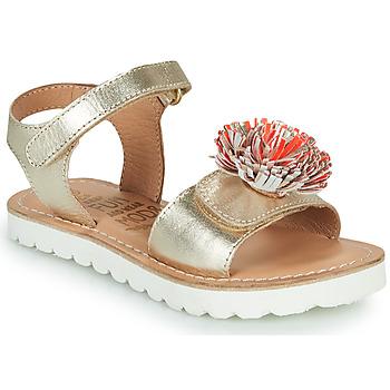 Schuhe Mädchen Sandalen / Sandaletten Mod'8 JELLINE Gold / Korallenrot