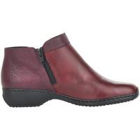 Schuhe Damen Low Boots Rieker Doro Bordeaux Rot