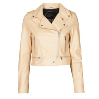 Kleidung Damen Lederjacken / Kunstlederjacken Oakwood YOKO Creme