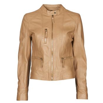 Kleidung Damen Lederjacken / Kunstlederjacken Oakwood EACH Camel