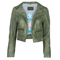 Kleidung Damen Lederjacken / Kunstlederjacken Oakwood TRISH Grün