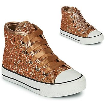 Schuhe Mädchen Sneaker High Citrouille et Compagnie OUTIL Bronze