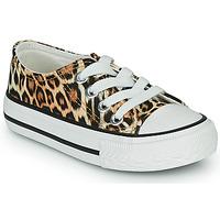 Schuhe Mädchen Sneaker Low Citrouille et Compagnie OTAL Leopard