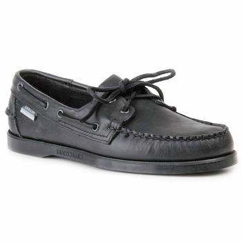 Schuhe Herren Bootsschuhe Sebago DOCKSIDES Schwarz