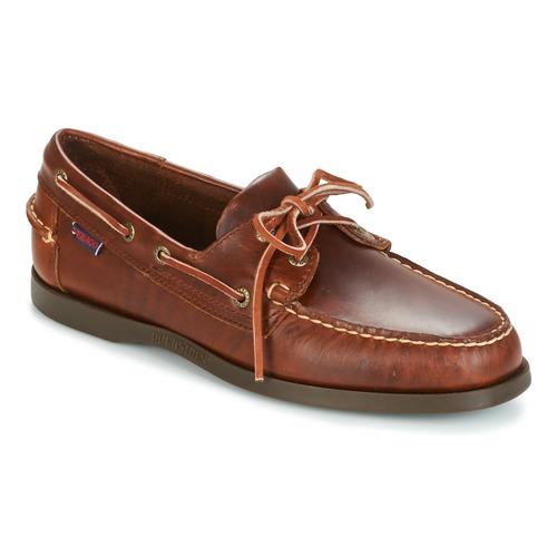 Sebago DOCKSIDES Braun  Schuhe Bootsschuhe Herren 116