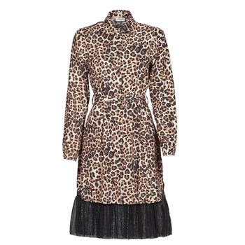 Kleidung Damen Kurze Kleider Liu Jo WA1218-T9147-T9680 Leopard