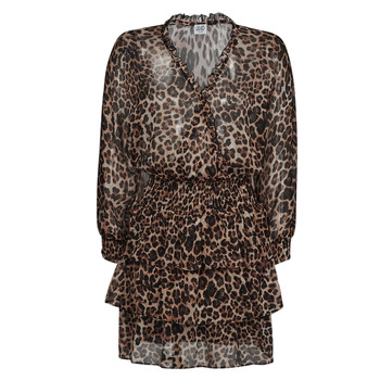 Kleidung Damen Kurze Kleider Liu Jo WA1530-T5059-T9680 Leopard