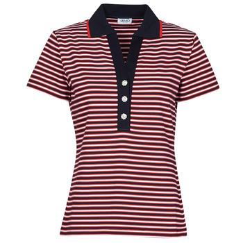 Kleidung Damen Polohemden Liu Jo WA1142-J6183-T9701 Marine / Weiss / Rot