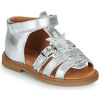 Schuhe Mädchen Sandalen / Sandaletten GBB CARETTE Silbern