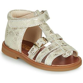 Schuhe Mädchen Sandalen / Sandaletten GBB PHILIPPINE Beige / Gold