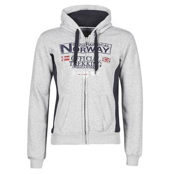 Kleidung Herren Sweatshirts Geographical Norway GAFONT Grau / Vichy schwarz