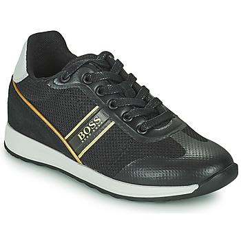 Schuhe Jungen Sneaker Low BOSS TRAMMI Schwarz / Gold