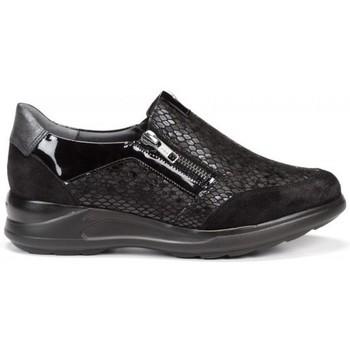 Schuhe Damen Slip on Dorking 24 Hrs mod.8657 Schwarz