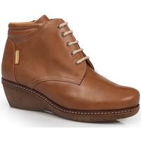 Schuhe Damen Low Boots Calzamedi HEELED SHOES  0711 BROWN