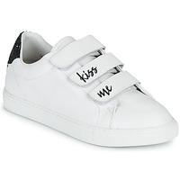 Schuhe Damen Sneaker Low Bons baisers de Paname EDITH KISS ME Weiss