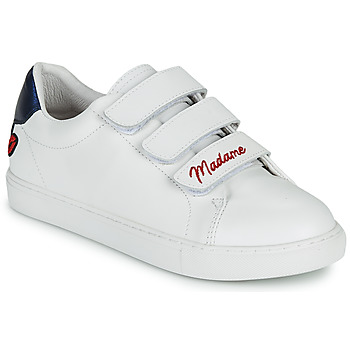 Schuhe Damen Sneaker Low Bons baisers de Paname EDITH MADAME MONSIEUR Weiss