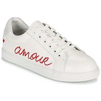 Schuhe Damen Sneaker Low Bons baisers de Paname SIMONE AMOUR Weiss