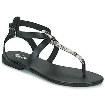 Schuhe Damen Sandalen / Sandaletten Betty London ORIOUL Schwarz / Grau