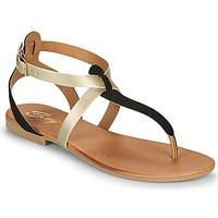 Schuhe Damen Sandalen / Sandaletten Betty London ORIOUL Schwarz / Gold