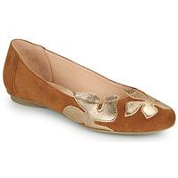 Schuhe Damen Ballerinas Betty London ERUNE Camel / Gold