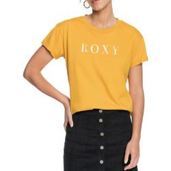 Kleidung Damen T-Shirts Roxy ERJZT05045 Gelb