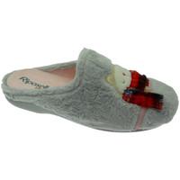 Schuhe Damen Hausschuhe Riposella RIP4592gr grigio