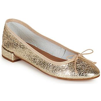 Schuhe Damen Ballerinas Minelli PLIVIA Gold