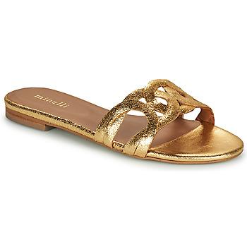 Schuhe Damen Pantoffel Minelli NANCIA Gold