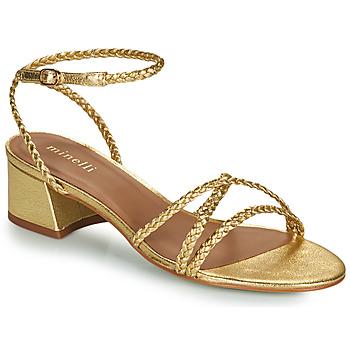 Schuhe Damen Sandalen / Sandaletten Minelli HARIETTE Gold