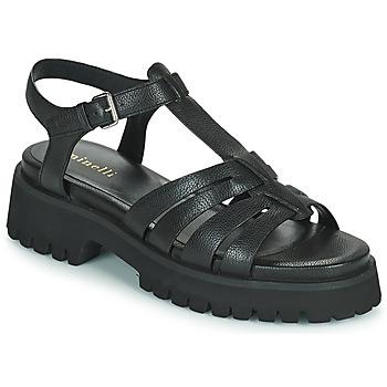 Schuhe Damen Sandalen / Sandaletten Minelli HELLHA Schwarz