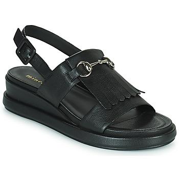 Schuhe Damen Sandalen / Sandaletten Minelli HEMYE Schwarz