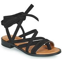 Schuhe Damen Sandalen / Sandaletten Minelli HURIA Schwarz
