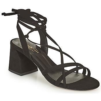 Schuhe Damen Sandalen / Sandaletten Minelli TATIA Schwarz