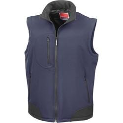 Kleidung Strickjacken Result Doudoune Sans Manche  Softshell bleu marine