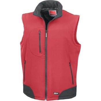 Kleidung Strickjacken Result Doudoune Sans Manche  Softshell rouge/noir