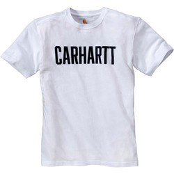 Kleidung T-Shirts Carhartt T-shirt  Block blanc