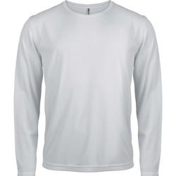 Kleidung Herren Langarmshirts Proact T-Shirt manches longues  Sport blanc blanc